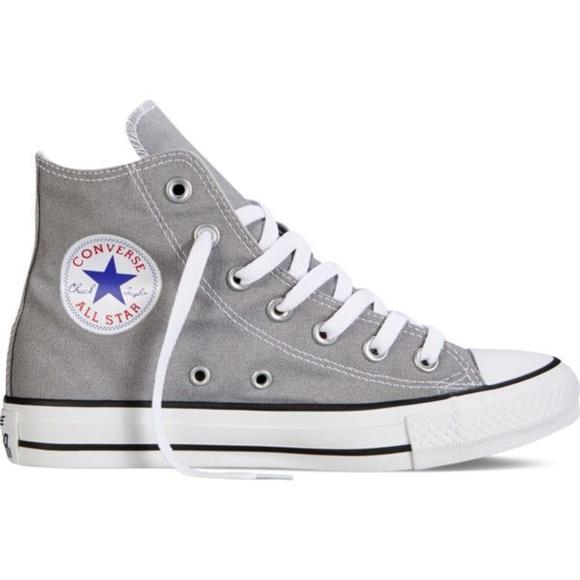 light gray high top converse - 57% OFF